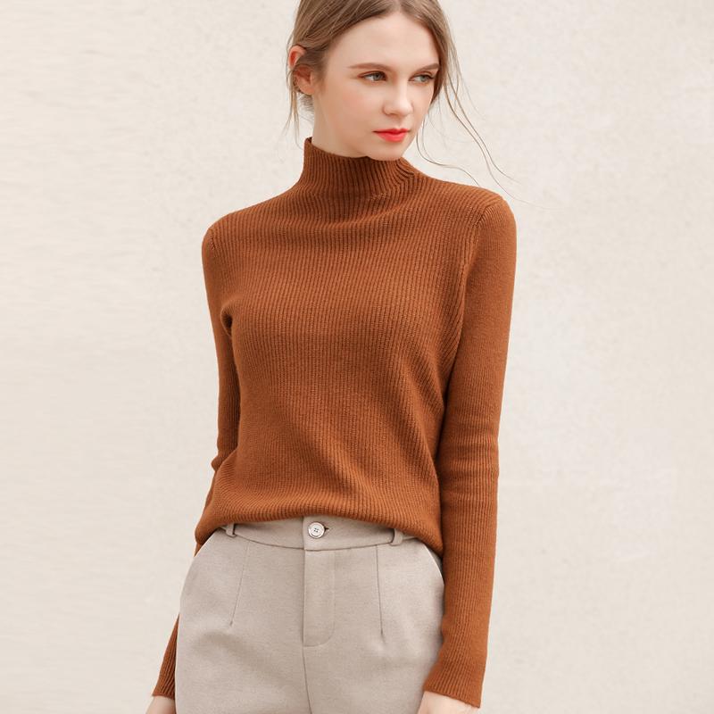 半高领打底衫女秋冬中领毛衣新款2020爆款洋气针织衫内搭修身上衣