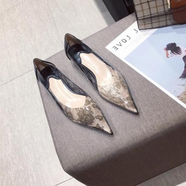 头软底网布时尚低跟软底时尚百搭仙女风细跟单鞋Aili新款2019尖