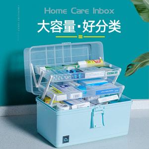 药箱家庭装医疗急救出诊家用大容量药盒收纳医护箱小号药品医药箱