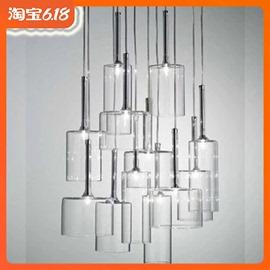 梦幻北欧现代简约创意米兰设计玻璃餐厅酒杯吧台咖啡厅餐桌小吊灯