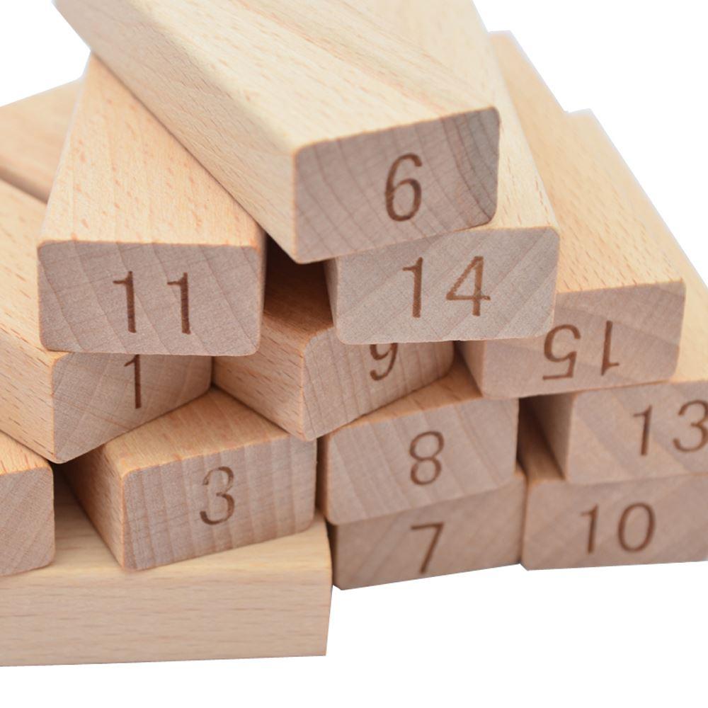 叠叠乐数字彩色叠叠层层叠抽木条积木儿童益智成人玩具桌面游戏,可领取元淘宝优惠券