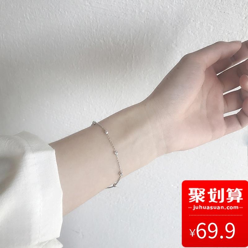 转运珠球球月亮弯刀文艺清新细手链(非品牌)