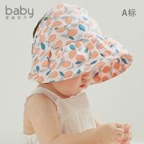 婴儿遮阳帽夏季薄款可爱女童宝宝帽子空顶帽凉帽太阳帽儿童防晒帽