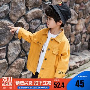 男童外套春秋2021新款洋气潮牌中大儿童牛仔夹克男孩上衣韩版童装