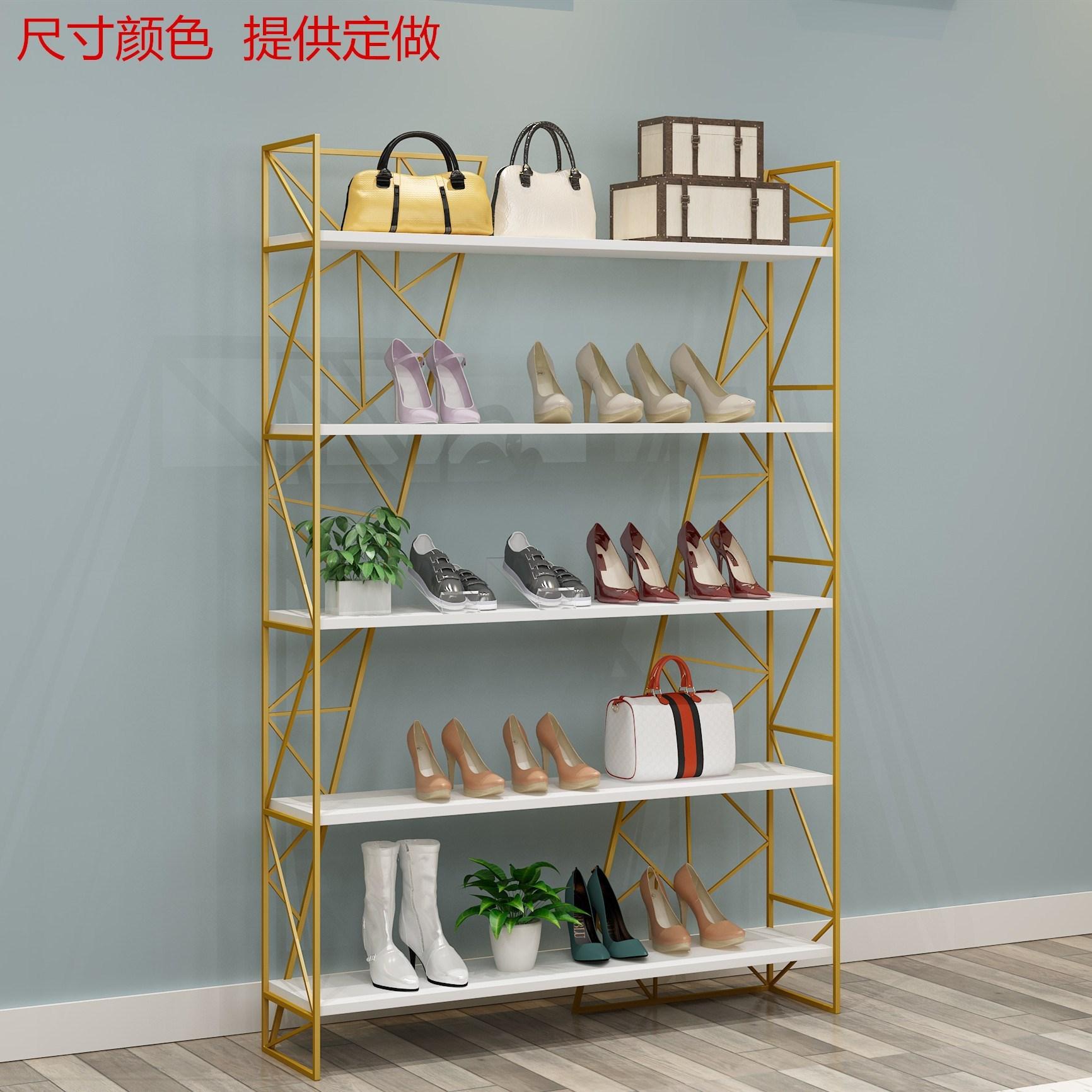 落地鞋店鞋架展示架童鞋店包包店展示架店铺式上墙服装店自由组合图片