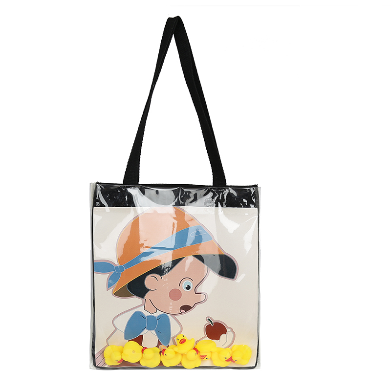 Xiao Yangs new transparent bag yellow duck small shoulder bag single bag college student 2020 canvas female portable class