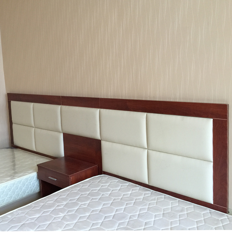 Standard room with bed head, board back, complete set of furniture, bed frame, customized high-grade hotel soft