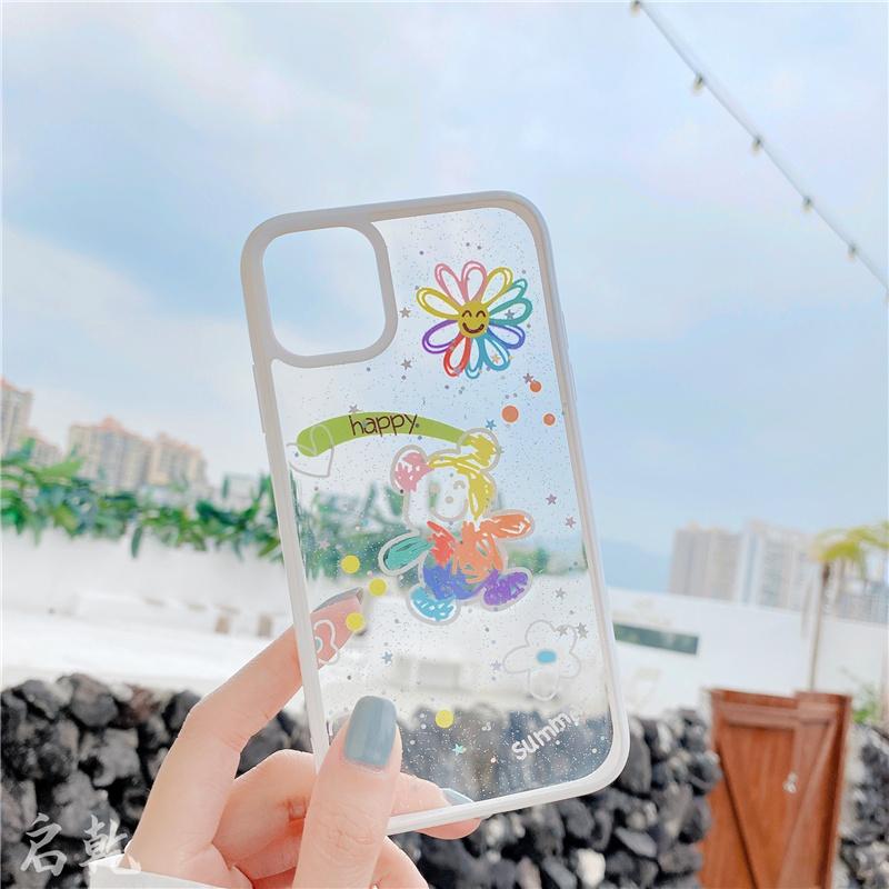 潮牌彩虹小熊苹果11 iphonexr手机壳