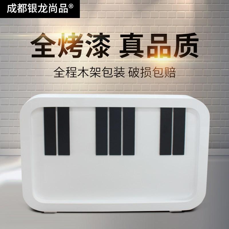 教育培训机构小型吧台收银台钢琴行现货弧形烤漆前台接待台包邮