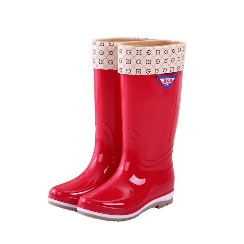 Mens and womens walking work shoes high tube Rain Boots Mens lovely waterproof shoes 46 cycling fishing boots high top