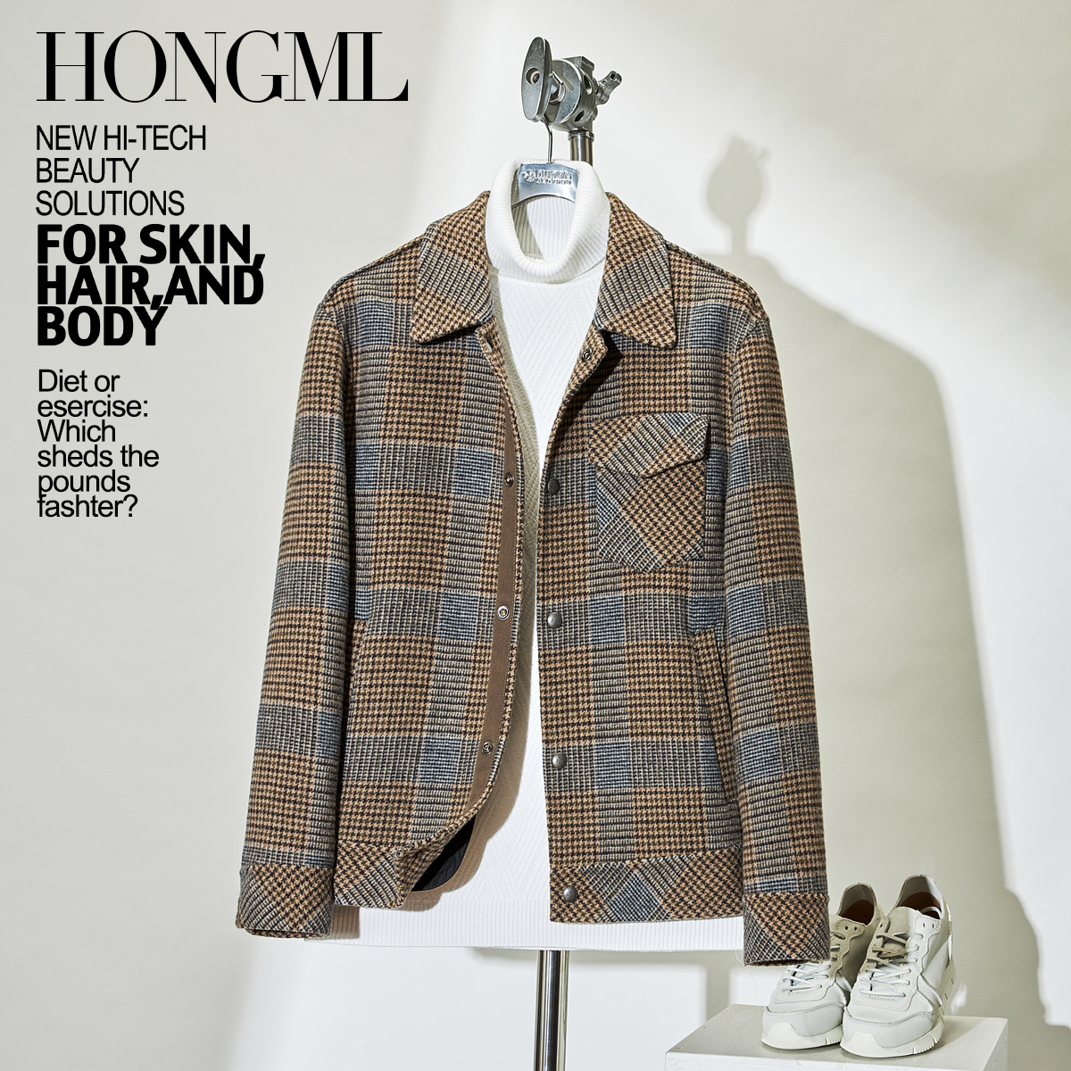 双面呢夹克 韩版潮流羊毛呢子常规短款外套夹克上衣