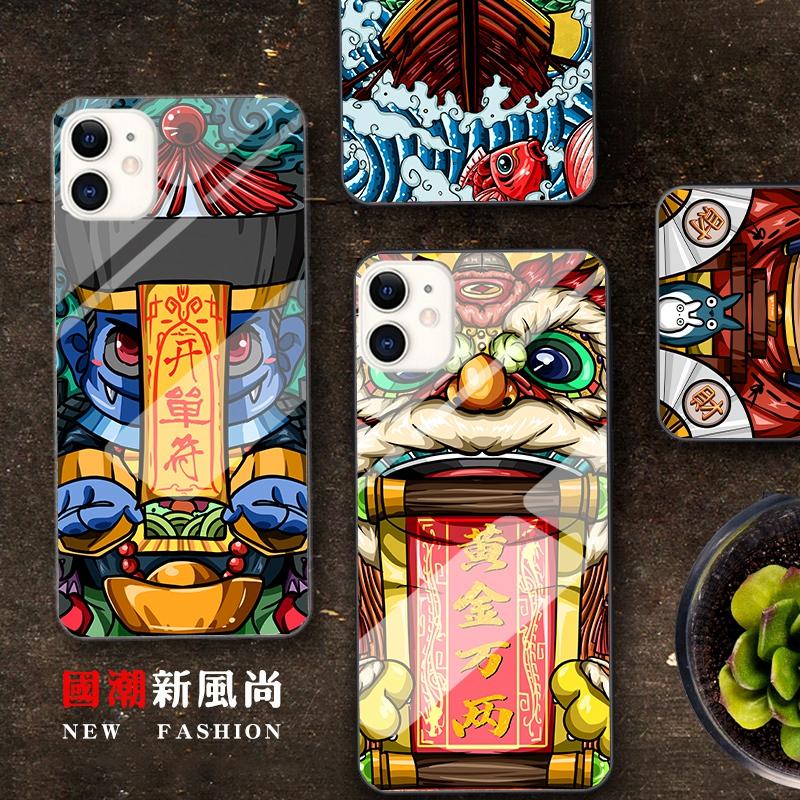 原创中国风x苹果11手机壳xsmax玻璃6s财神8plus一夜暴富7p黄金万两XR华为mate20过新鼠年P30发财小米89荣耀20