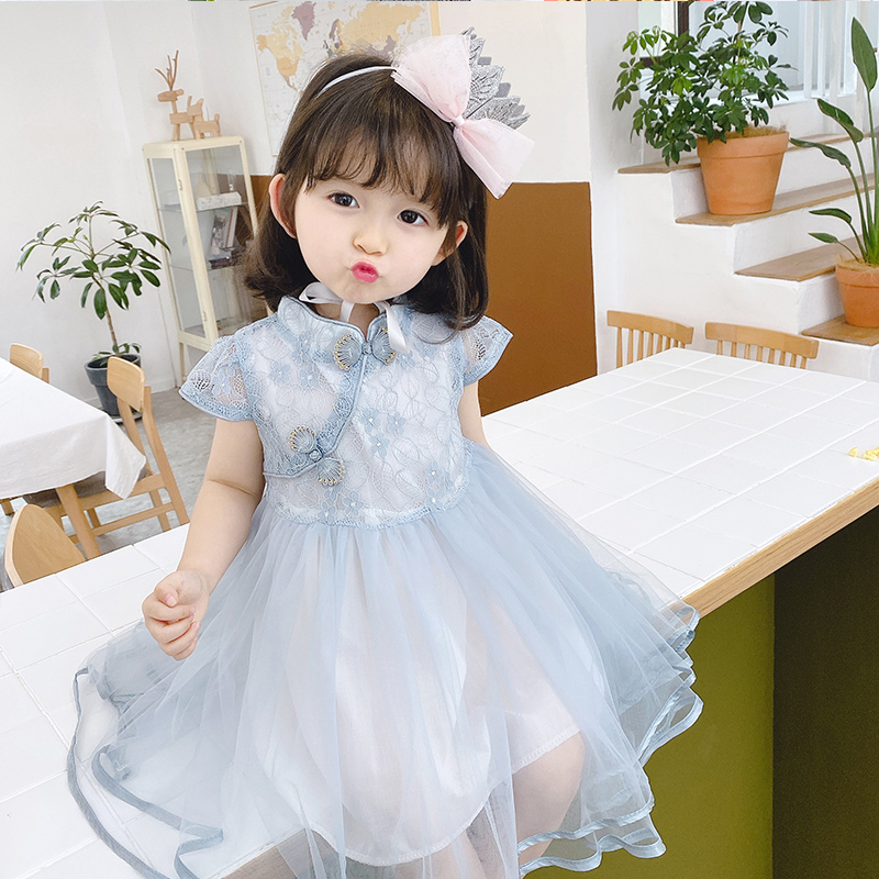 女童汉服连衣裙儿童古装超仙小童中国风旗袍裙女宝宝夏装唐装礼服