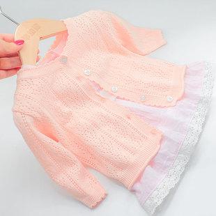女新生宝宝外套童装周岁空调衫毛衣