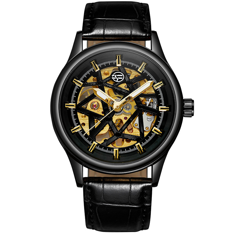 2019 new concept fully automatic mechanical watch mens watch waterproof Trend Sports skull Watch