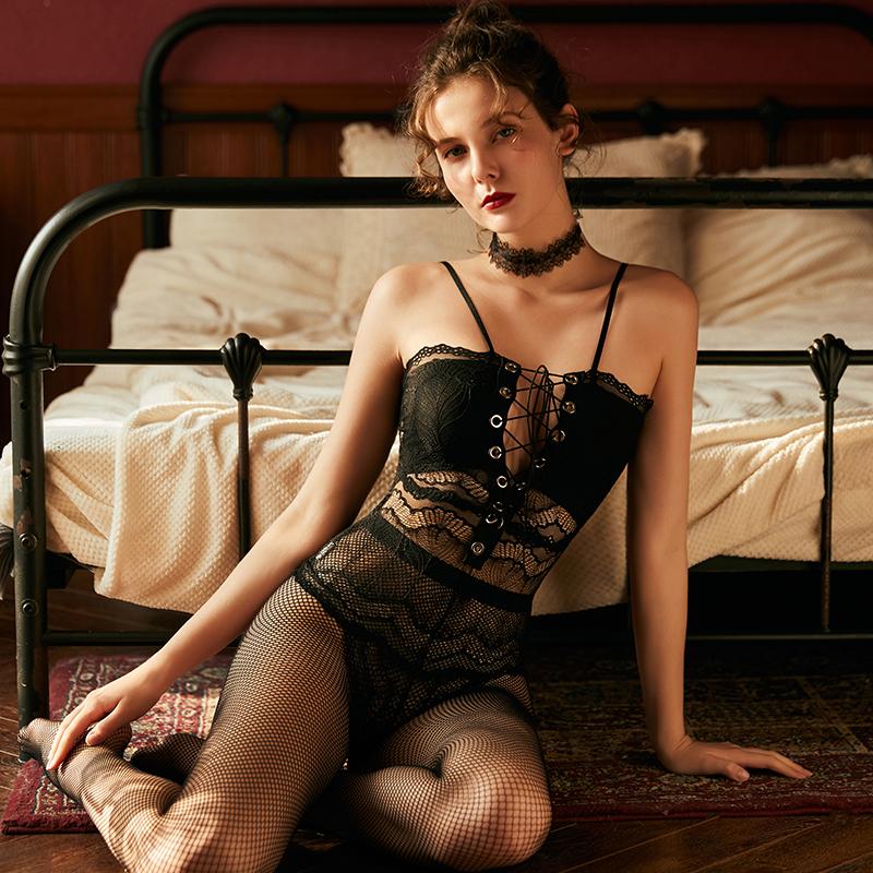 澄澈性感夏季透明蕾丝午夜魅力睡衣满118.00元可用49元优惠券