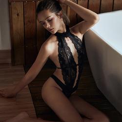 性感睡衣女蕾丝情趣挑逗超骚床上激情套装夏季连体全透明内衣诱惑