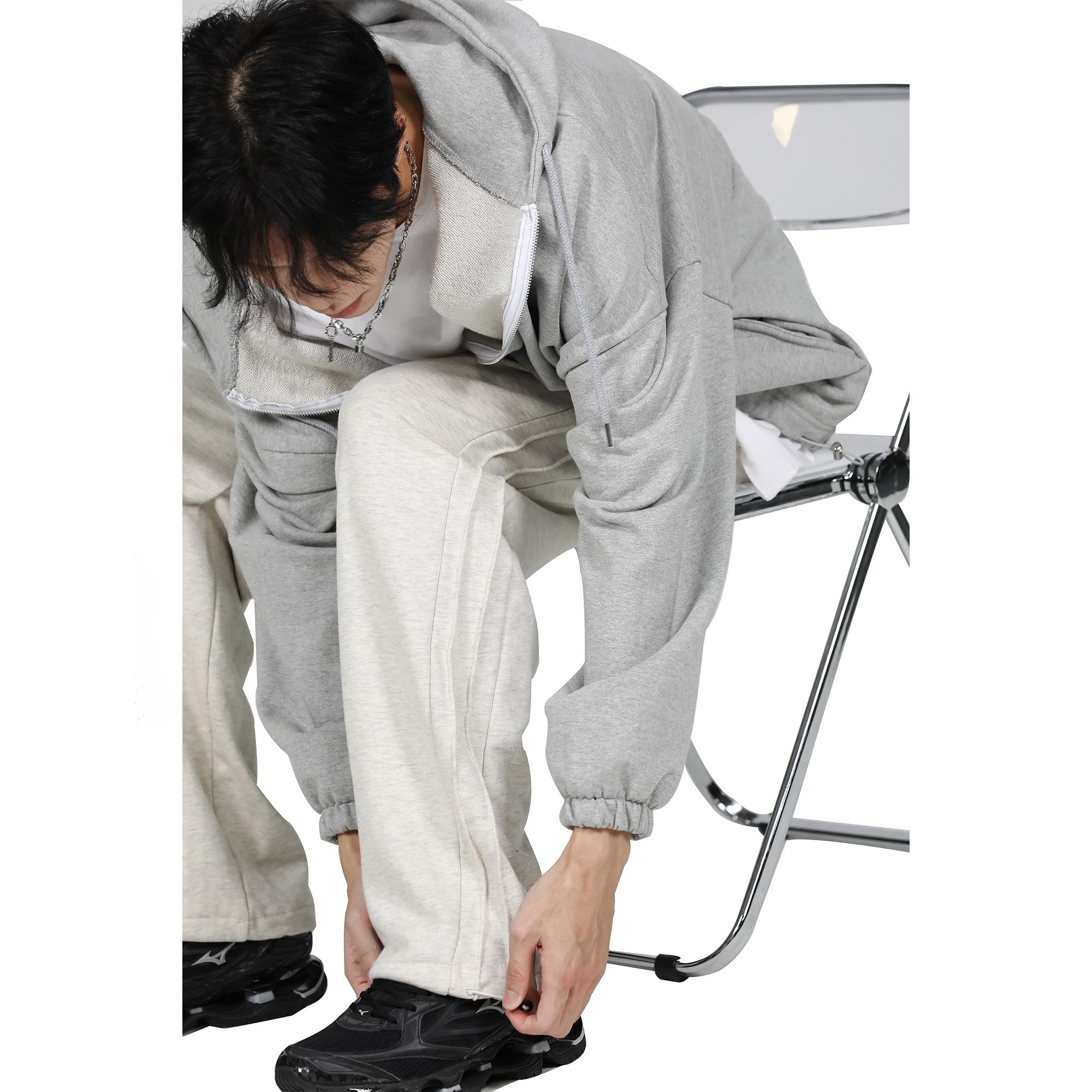 【Raucohouse ROAD】韩国ins风宽松男女坠感直筒阔腿运动休闲长裤