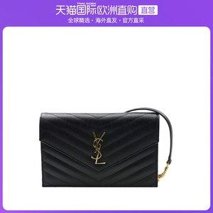 香港直郵YSL 圣羅蘭 Monogram黑色牛皮斜挎包 393953-BOW01-1000