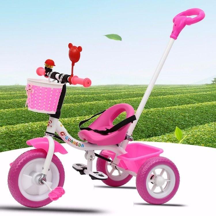 儿童三轮车脚踏车手推车大号小孩1-3-5岁脚蹬三轮车男女宝宝2-6岁