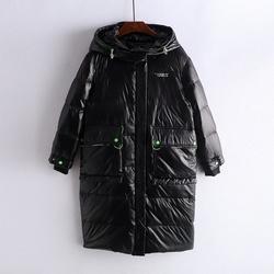 【夏系列】2021冬新款潮流纯色中长款长袖羽绒服女装特价处理清仓