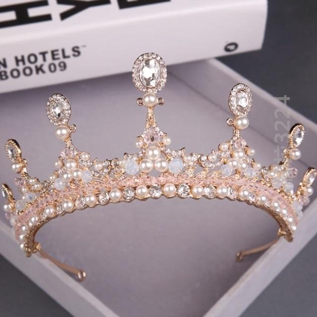Crown headdress bride Chinese style wedding short hair wedding stage jewelry headdress new temperament headdress