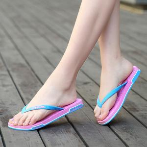 坦锐甜美撞色人字拖夹趾防滑旅行凉拖情侣鞋时尚夏天沙滩潮拖鞋女