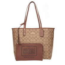 COACH Cox 2019, the new large-sized double-sided tut bag PVC female daughter mother bag F36658
