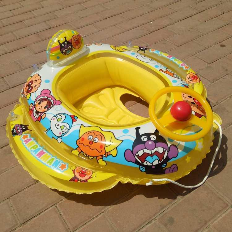 Boys and girls seat circle floating circle Japanese bread Superman steering wheel childrens swimming circle water inflatable mount