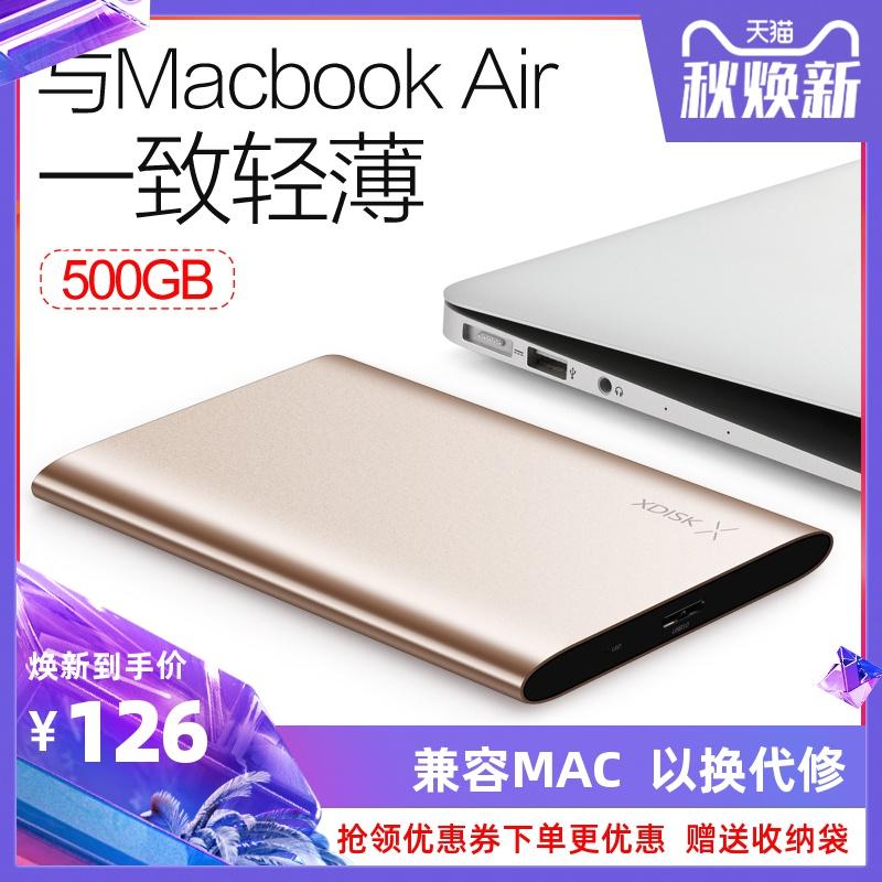 小盘移动硬盘1t 500g 320g兼容苹果五折促销