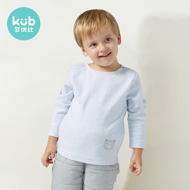 KUB可优比秋冬装新款圆领卡通T恤男宝女宝长袖运动套头外出衣服图片