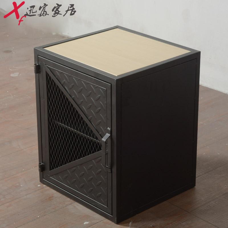 卧室简约现代新款loft工业风个性储物柜铁艺床边小柜子创意收纳柜