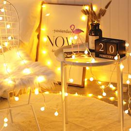 LED圆球小彩灯房间创意装饰闪灯电池款圣诞户外防水灯春节挂灯串图片