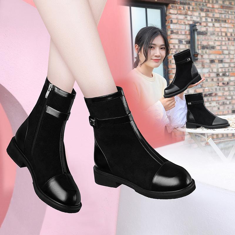 邻家天使平底马丁靴女2021新款秋冬机车靴英伦风靴子女鞋短靴百搭