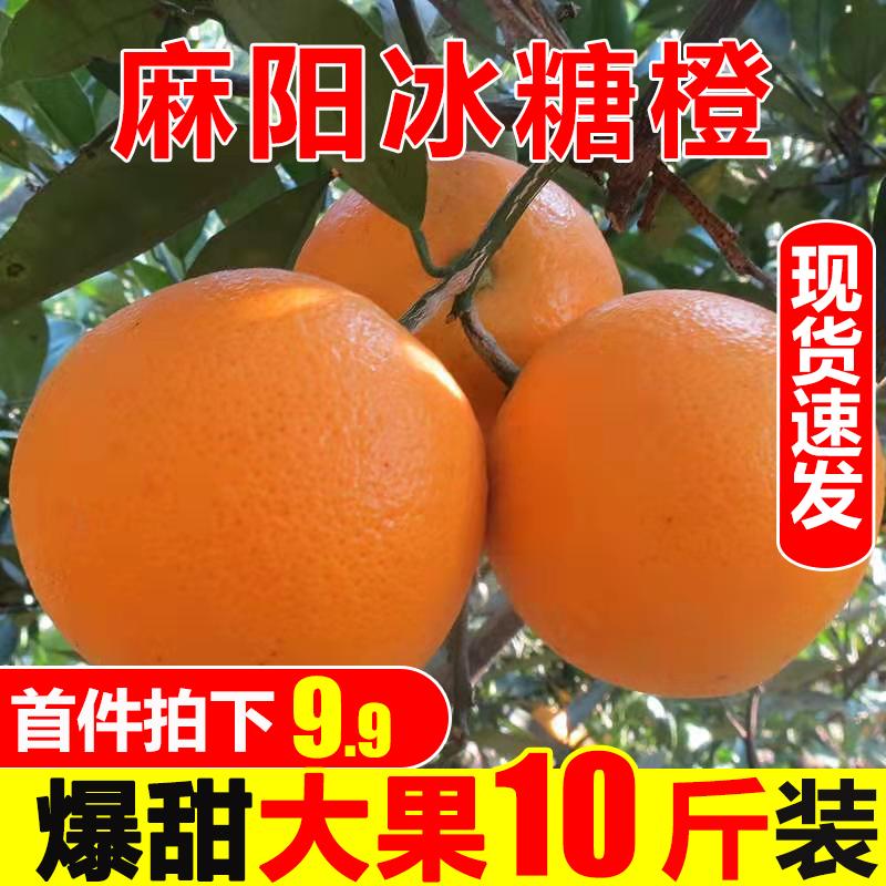 麻阳冰糖橙橙子10斤新鲜水果超甜应季当季现摘甜橙整箱湖南手剥橙