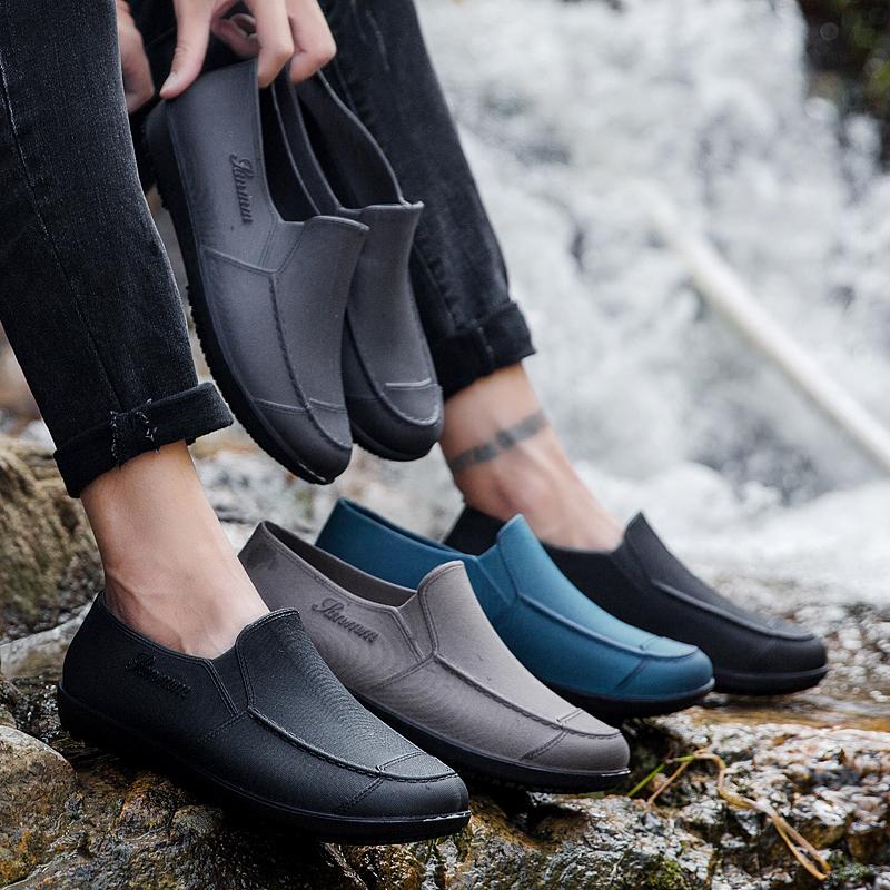 雨鞋短筒男士