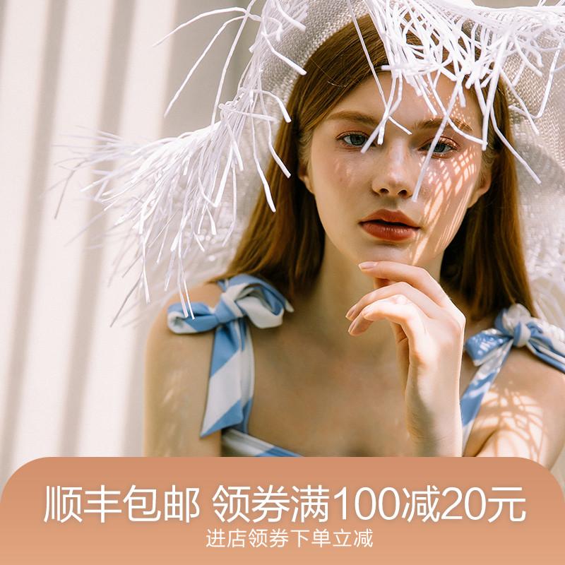 jinxueer2021新款正品条纹女游泳衣