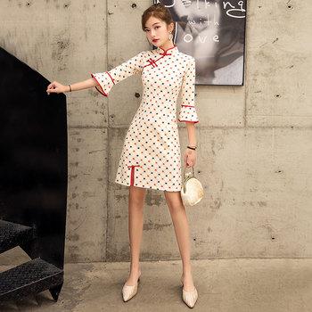 旗袍年轻款长袖少女中国风夏连衣裙