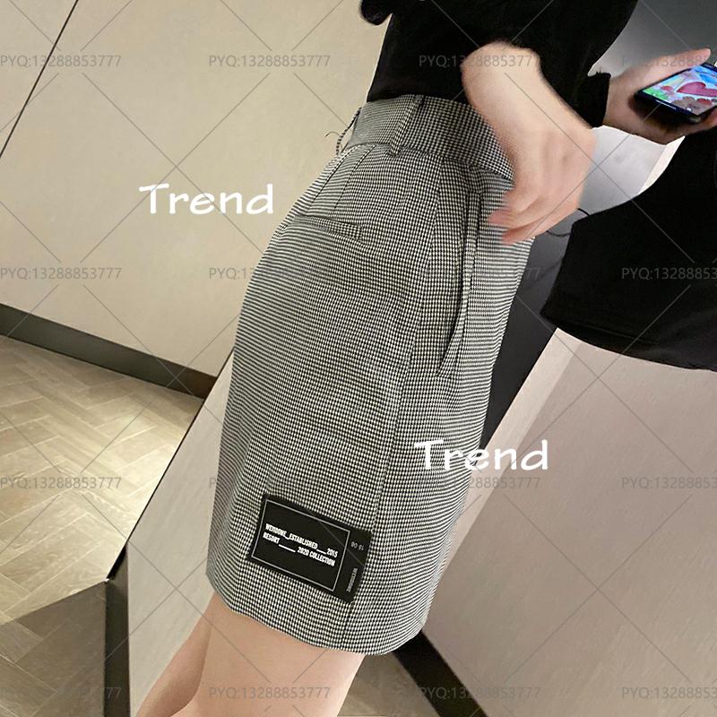新款 【Trend】11done20ss老爹款宽松西装短裤条纹西裤四分裤well