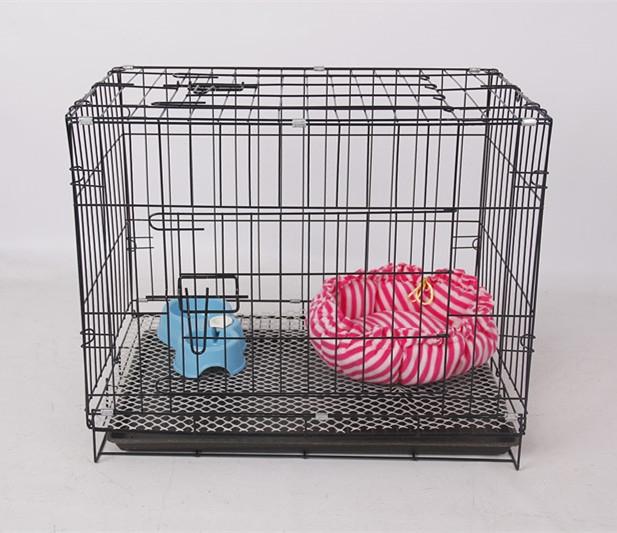 52.00元包邮红色中小型巴吉度室外笼腊肠运输萨摩耶狗笼英国斗牛比格犬组合猫