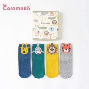儿童袜子秋冬女童宝宝长筒女男童婴儿可爱地板纯棉中筒袜0-1岁