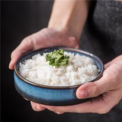日式餐具米饭碗单个陶瓷餐厅商用钵仔斗笠碗小汤碗 家用面碗5寸碗