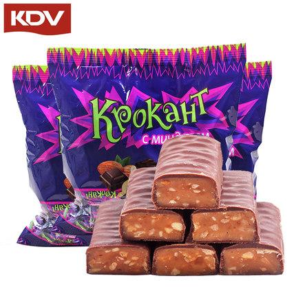 进口夹心巧克力紫皮糖果280g