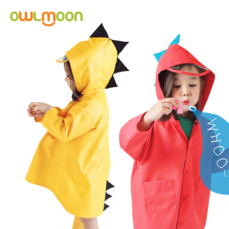 Childrens raincoat boys and girls cartoon three-dimensional small dinosaur raincoat environmental protection breathable kindergarten waterproof raincoat