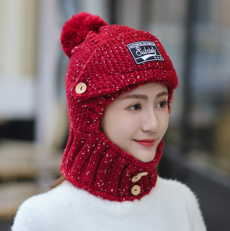 Wanchang 2019 popular winter Korean fashion warm wool hat thickened cycling womens winter ear protection