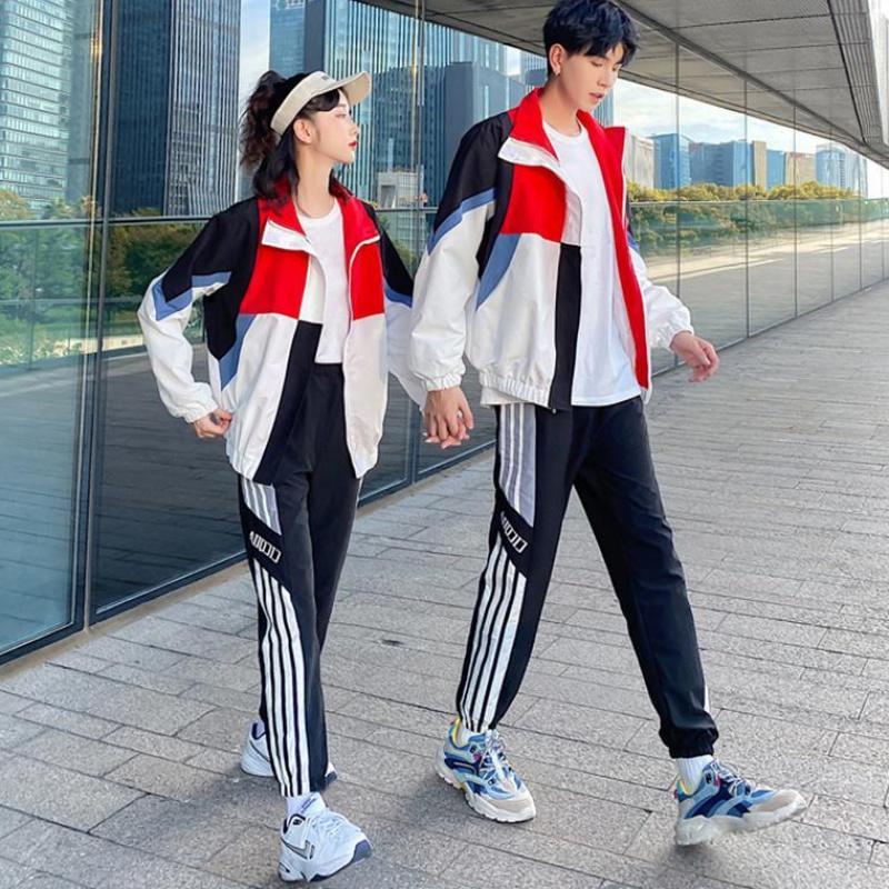 秋季校服初中学院风运动会套装学生韩版ins港风夹克外套班服定制