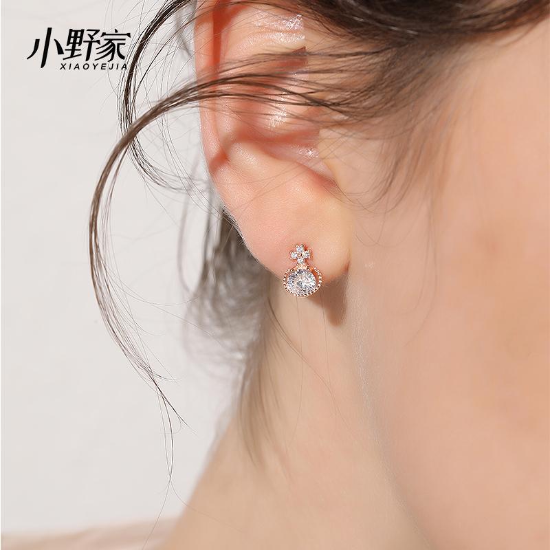 925纯银耳钉女小众设计耳饰网红小耳垂适合的法式耳环高级感
