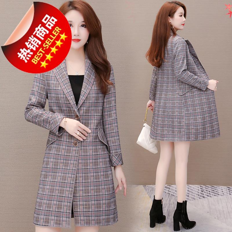 今年流行中长0款女式西装风衣中年妈妈装外套韩版气质精品女装大