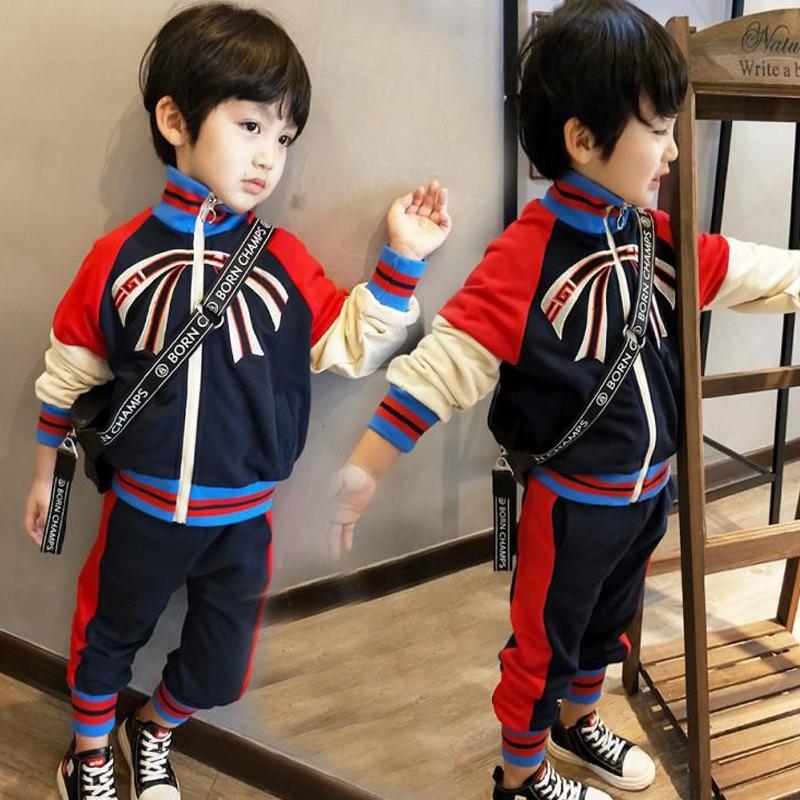 童装男童秋装儿童男孩秋款衣服韩版新款棉运动服帅气两件套潮套装