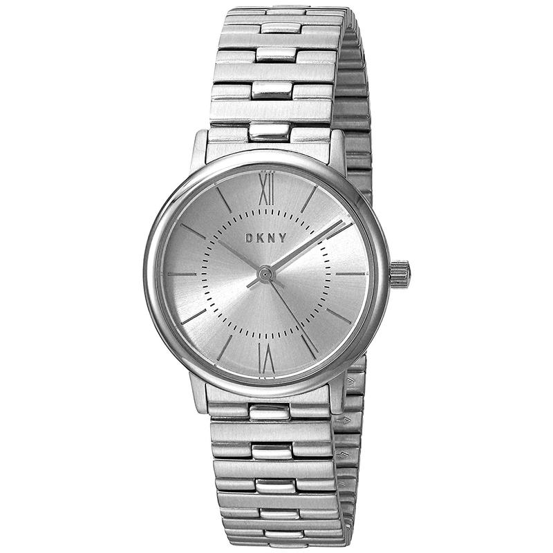 Overseas agent purchase of Tang kenaer DKNY silver stainless steel waterproof and scratch proof boutique European and American womens watch ny2547
